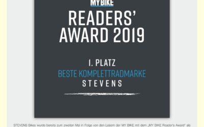 Stevens auf Platz 1 im MYBIKE-Award